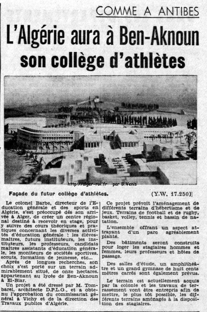 Ben-Aknoun,college d'athletes